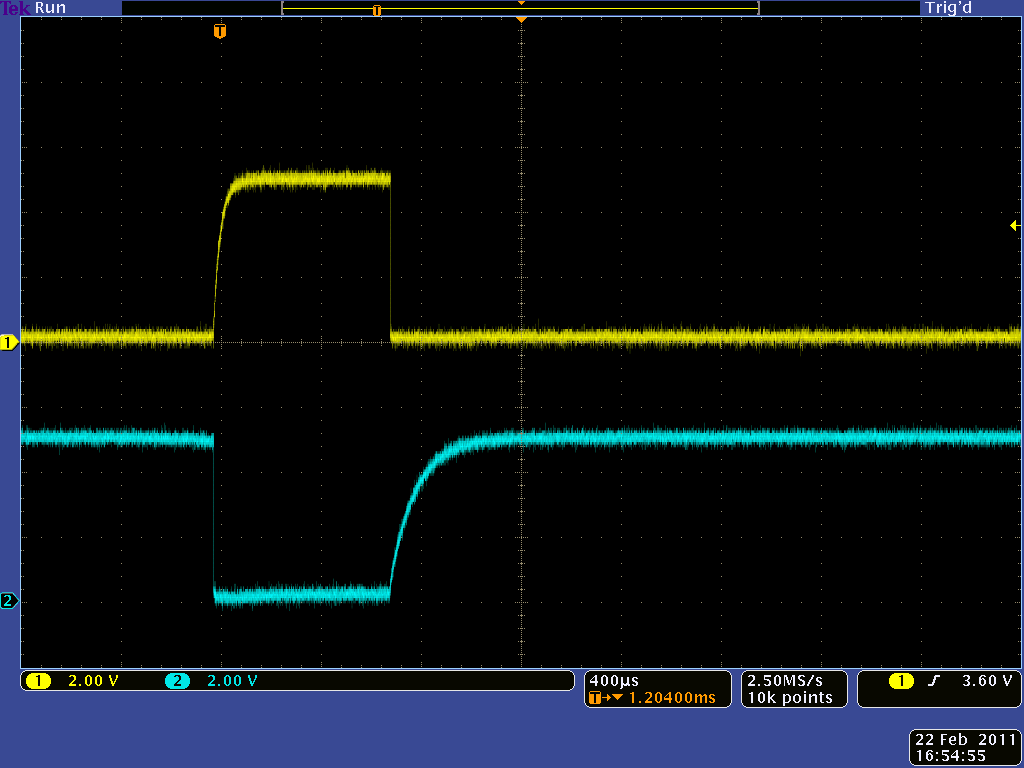 Pololu Simple Hardware Approach To Controlling A Servo Tester Shortest Control Circuit Output Pulse With Variable Resistor R2 At 10k