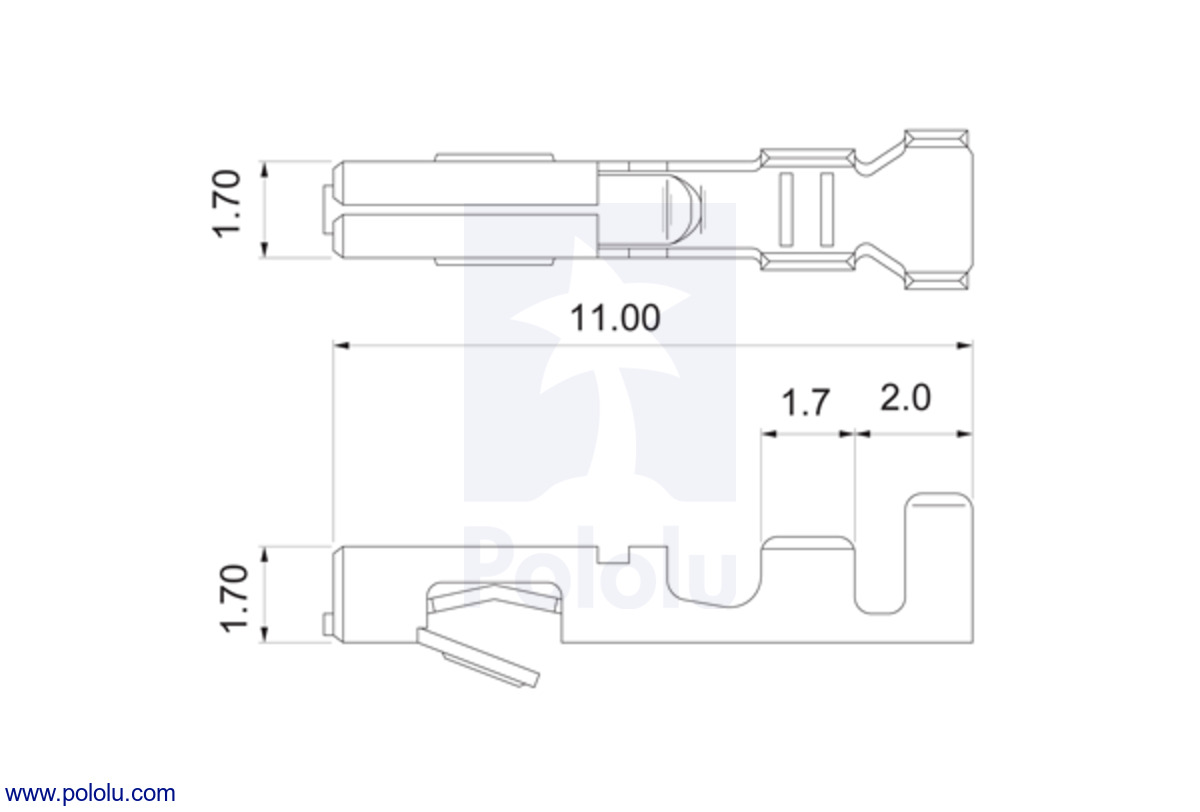 Pololu Jst Rcy Connector Pack Female Regulator To Provide The Bec Battery Eliminator Circuit Function Crimp Pin Dimensions In Mm