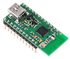 Wixel programmable USB wireless module (fully assembled).