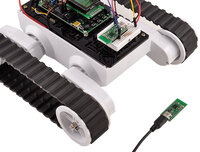 Wixel programmable USB wireless module enabling wireless communication between a PC and robot.