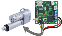 Connecting a linear actuator with feedback to a jrk 21v3 motor controller.