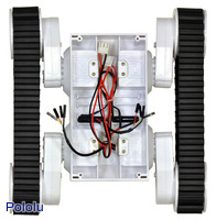 Dagu Rover 5 tracked chassis with encoders, top view.
