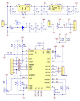 Schematic diagram of the md09a A4988 stepper motor driver carrier with regulators.