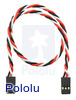 """Twisted Servo Extension Cable 12"""" Female - Female"""