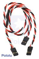 "Twisted Servo Y Splitter Cable 12"" Female - 2x Female"