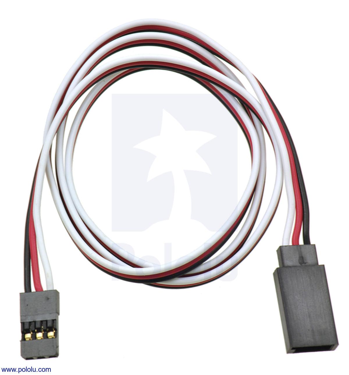 Pololu Servo Extension Cable 24 Male Female Wiring Plug Australia