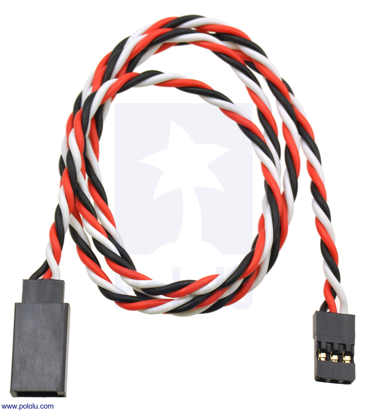 Pololu - Twisted Servo Extension Cable 12 U0026quot  Male