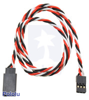 "Twisted Servo Extension Cable 24"" Male - Female"