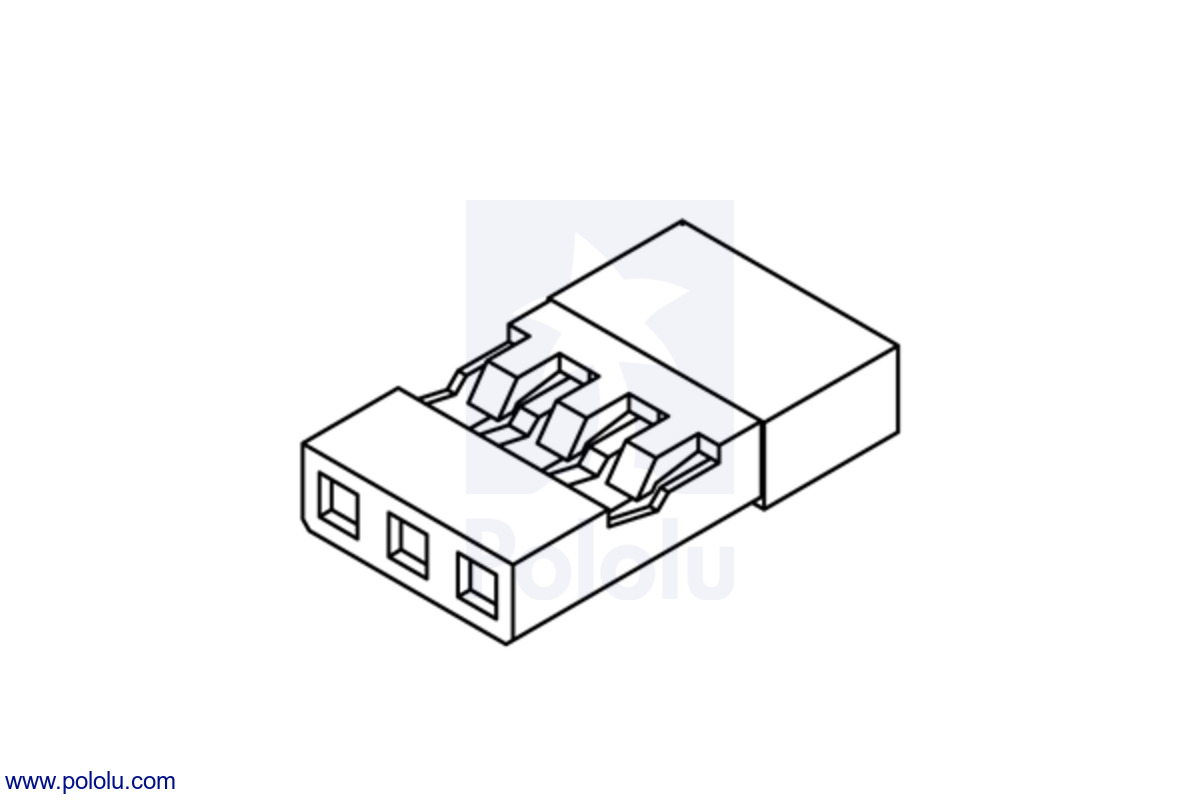 Pololu Jr Connector Pack Female Wiring Schematic For The Plugs Of Four Major Servo Manufacturers Often Referred To As Male In Rc Hobby Industy