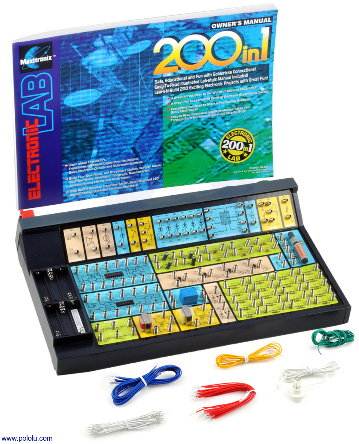 Pololu Elenco 200 In One Electronic Project Lab Electrical Wiring Manual New