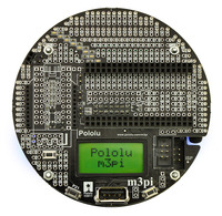 Pololu m3pi robot, top view.