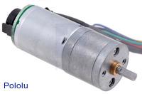 25D mm metal gearmotor with 48 CPR encoder.