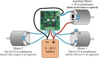 TReX Jr motor connections (single battery)