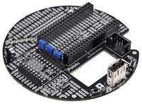 Pololu m3pi expansion kit after assembly.