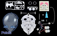 Parts included with the Tamiya 70198 Wall-Hugging Mouse.
