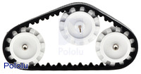 Pololu 30T track set with an second idler sprocket added in.