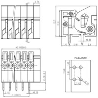 """Screwless terminal block: 0.1"""" pitch, side entry."""