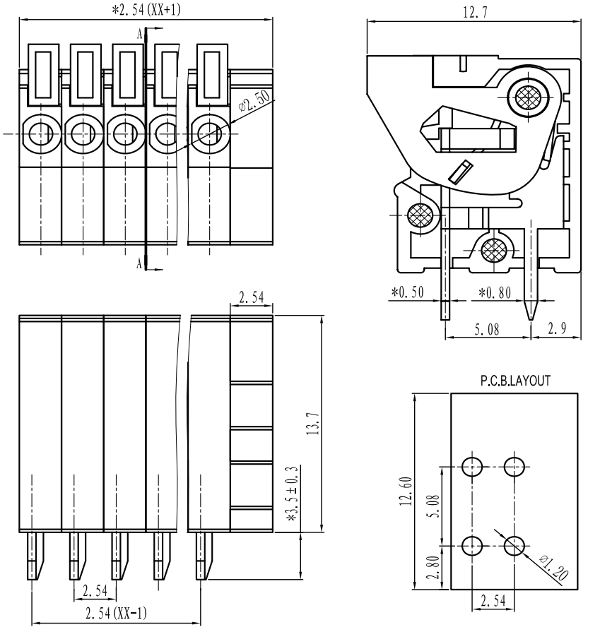 0J3561.1200?91fc6a4213b3a9f928aafcaedd872eb5 pololu screwless terminal block 2 pin, 0 1\u2033 pitch, top entry (3 terminal block wiring diagram at highcare.asia