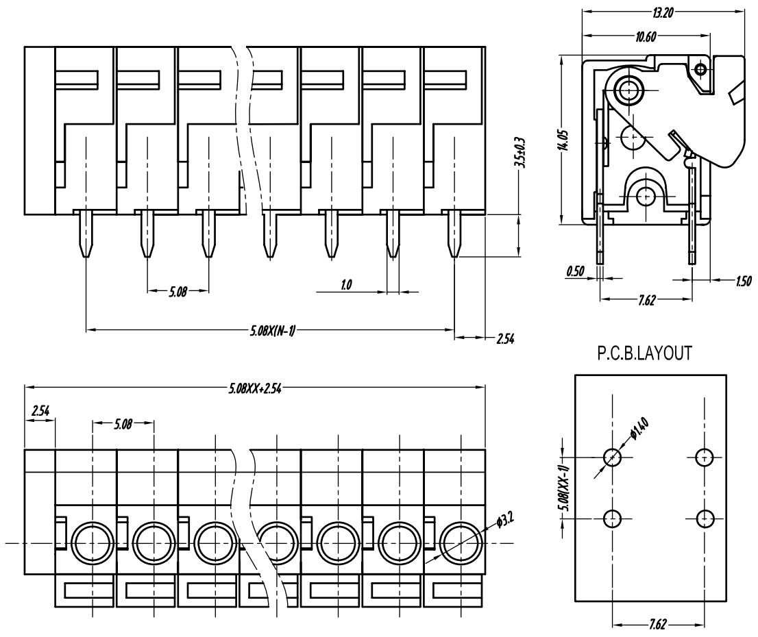 Pololu Screwless Terminal Block 2 Pin 02 Pitch Top Entry 3 Pack Strip Wiring Diagram