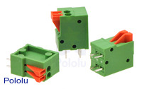 Screwless Terminal Block: 2-Pin, 0.1″ Pitch, Top Entry (3-Pack)