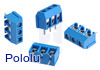 Screw Terminal Block: 3-Pin, 5 mm Pitch, Side Entry (4-Pack)
