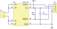 ACS711 current sensor carrier schematic diagram.