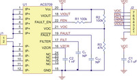 ACS709 current sensor carrier schematic diagram.