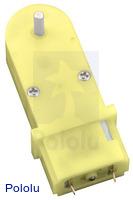180:1 Mini Plastic Gearmotor, 90° 3mm D-Shaft Output