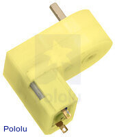180:1 Mini Plastic Gearmotor, Offset 3mm D-Shaft Output