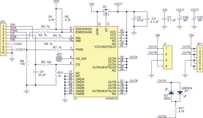 Tip Schematic furthermore J moreover Minimal Wiring Diagram For Connecting A Microcontroller With A Logic Voltage Of V To An Amis Stepper Motor Driver Carrier as well Stspin Stepper Motor Driver Carrier With Included Headers likewise A Stepper Motor Driver Pic X. on wiring stepper motor driver carrier