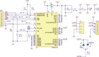 Schematic diagram for the Pololu VNH5019 motor driver carrier.