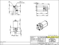 Solarbotics mini metal gearmotor dimensions (in mm).