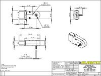 Solarbotics GM7 gearmotor dimensions (in mm).