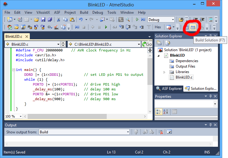 Pololu - 3 b  Programming AVRs using Atmel Studio
