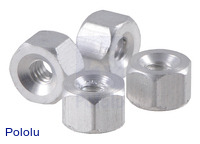 "Aluminum Standoff: 1/8"" Length, 2-56 Thread, F-F (4-Pack)"