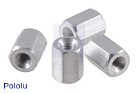 "Aluminum Standoff: 1/4"" Length, 2-56 Thread, F-F (4-Pack)"