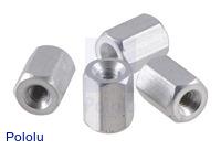 "Aluminum Standoff: 1/4"" Length, 2-56 Thread, F-F (4-Pack)"
