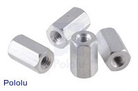 "Aluminum Standoff: 5/16"" Length, 2-56 Thread, F-F (4-Pack)"
