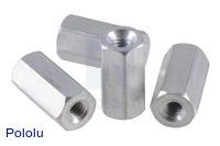 "Aluminum Standoff: 3/8"" Length, 2-56 Thread, F-F (4-Pack)"