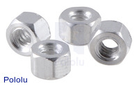 "Aluminum Standoff: 1/8"" Length, 4-40 Thread, F-F (4-Pack)"