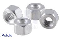 "Aluminum Standoff: 1/8"" Length, 4-40 Thread, F-F (4-Pack)"
