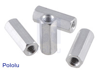 "Aluminum Standoff: 1/2"" Length, 4-40 Thread, F-F (4-Pack)"