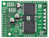 Pololu dual VNH5019 motor driver shield for Arduino (ash02a).