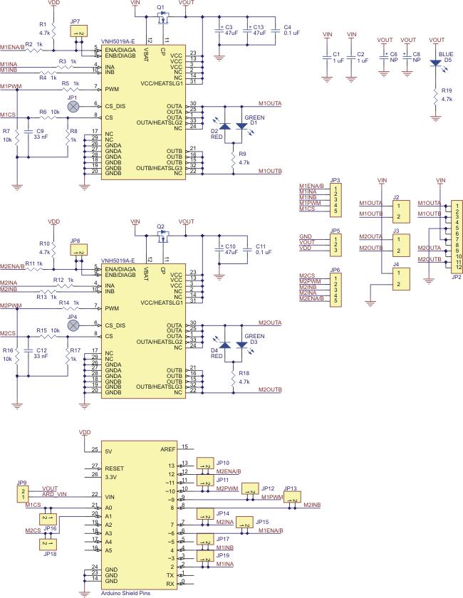Pololu dual motor driver shield for arduino a v