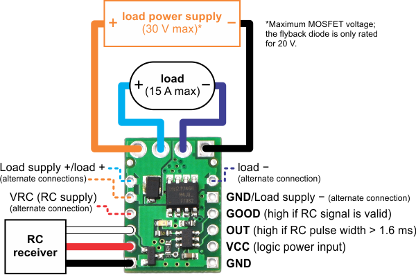 wiring diagram for rc switch with medium low-side mosfet