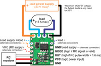 Wiring diagram for RC switch with medium low-side MOSFET.