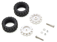 Pololu 42x19mm Idler Wheel/Sprocket Pair - White