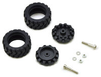 Pololu 42×19mm Idler Wheel/Sprocket Pair - Black