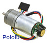 9.7:1 Metal Gearmotor 25Dx48L mm LP 6V with 48 CPR Encoder