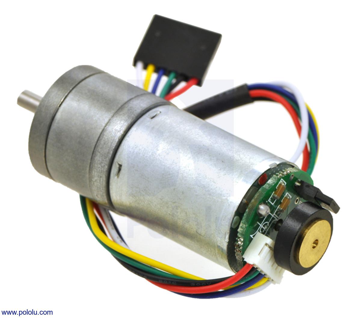 Pololu 227:1 Metal Gearmotor 25Dx56L mm MP 12V with 48 CPR Encoder